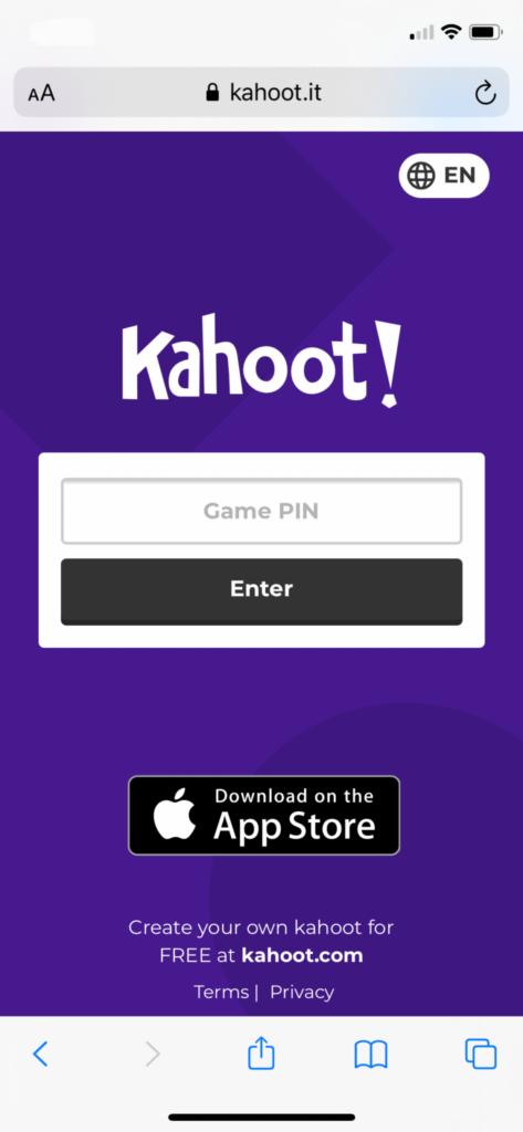 Kahoot PIN Image